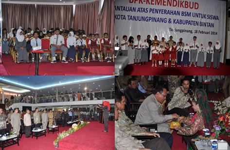 Penyerahan BSM di Tanjungpinang (18 Februari 2014)